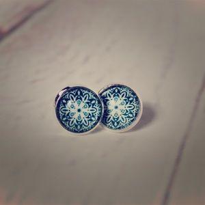 Boho Western Blue Stud Earrings